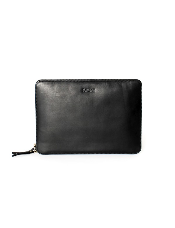 OBAL NA LAPTOP - BLACK CLASSIC LEATHER