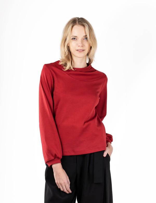 Červené triko z biobavlny Jota