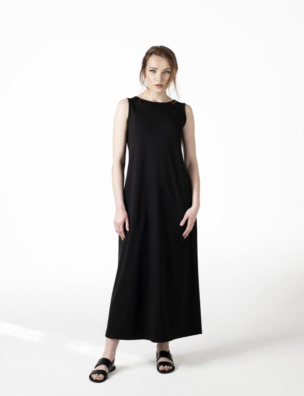 Dlouhé černé šaty Base
