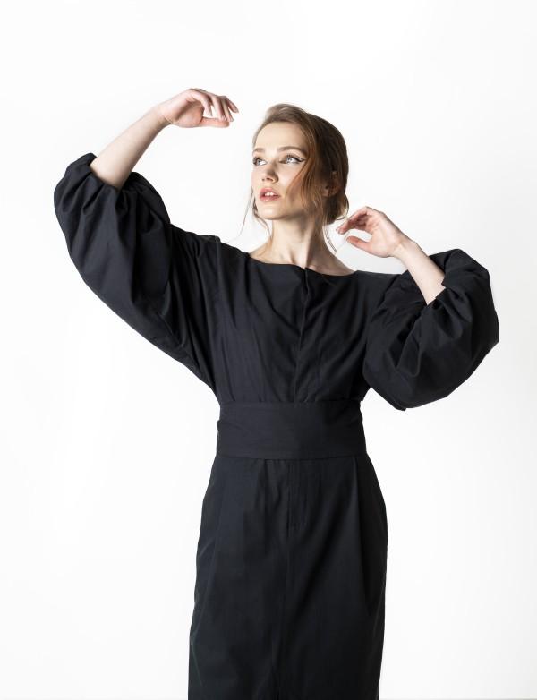 Dlouhé černé šaty Aurelia