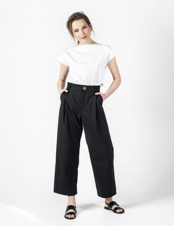 Černé kalhoty Mya