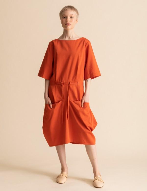 Oranžové šaty Leija