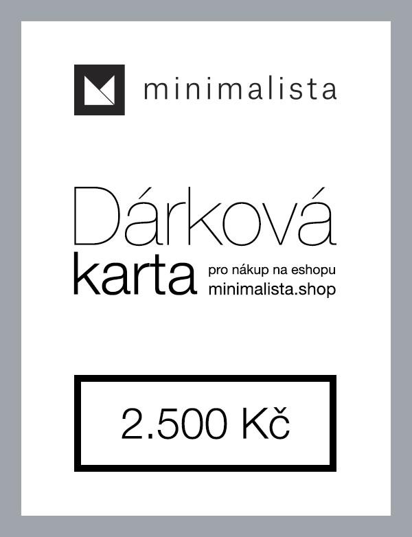 Dárková karta 2.500 Kč